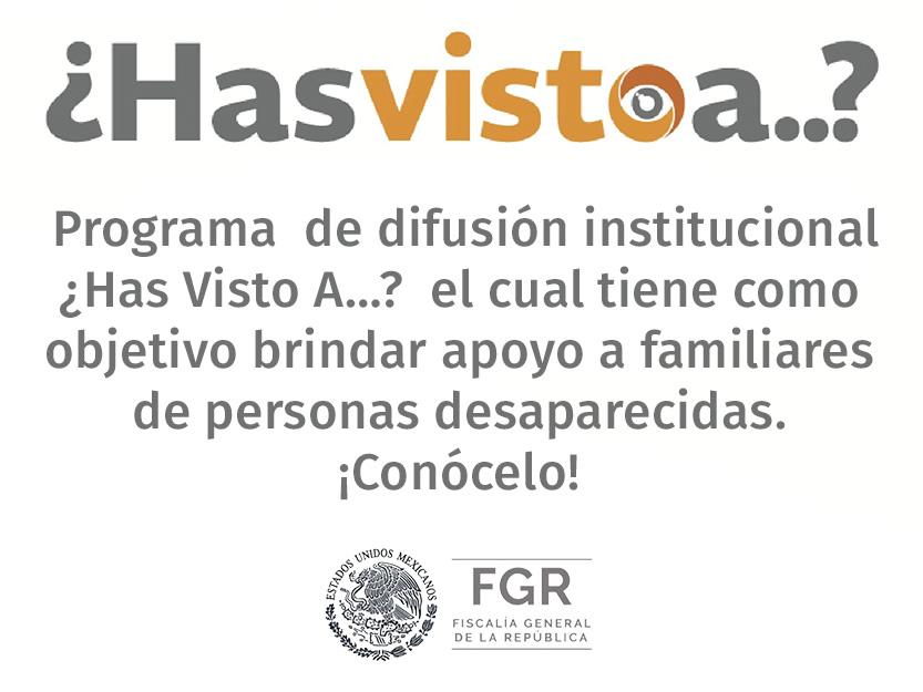 Programa de Difusión de Personas Desaparecidas